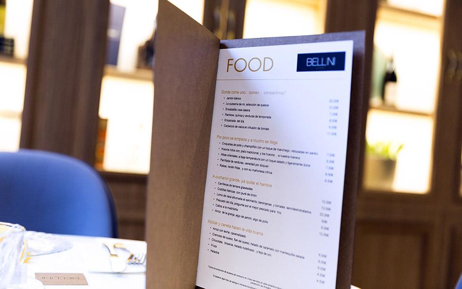 carta Bellini Food and Bar Hotel Vincci Centrum