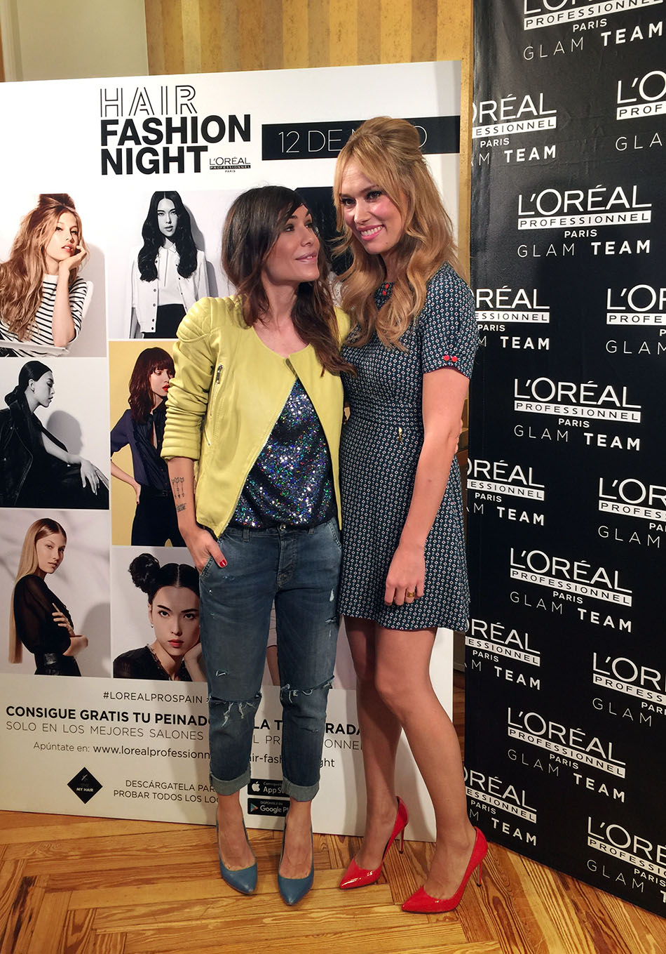 bárbara Crespo y patricia conde. hair Fashion Night