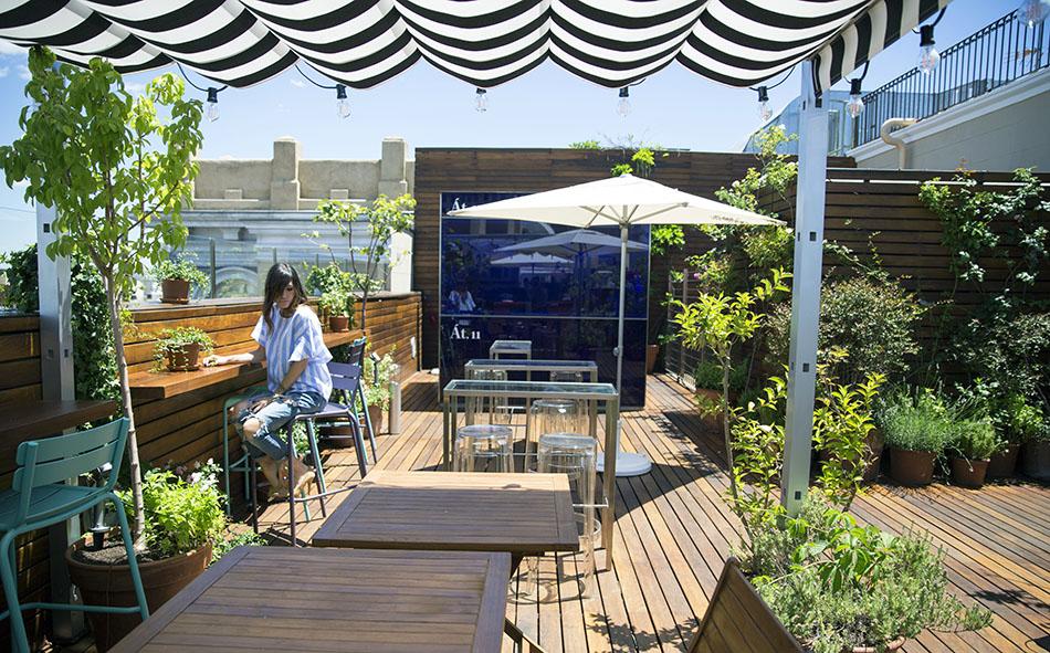 Terraza de verano atico 11 hotel de las letras gran via - Terrazas aticos madrid ...