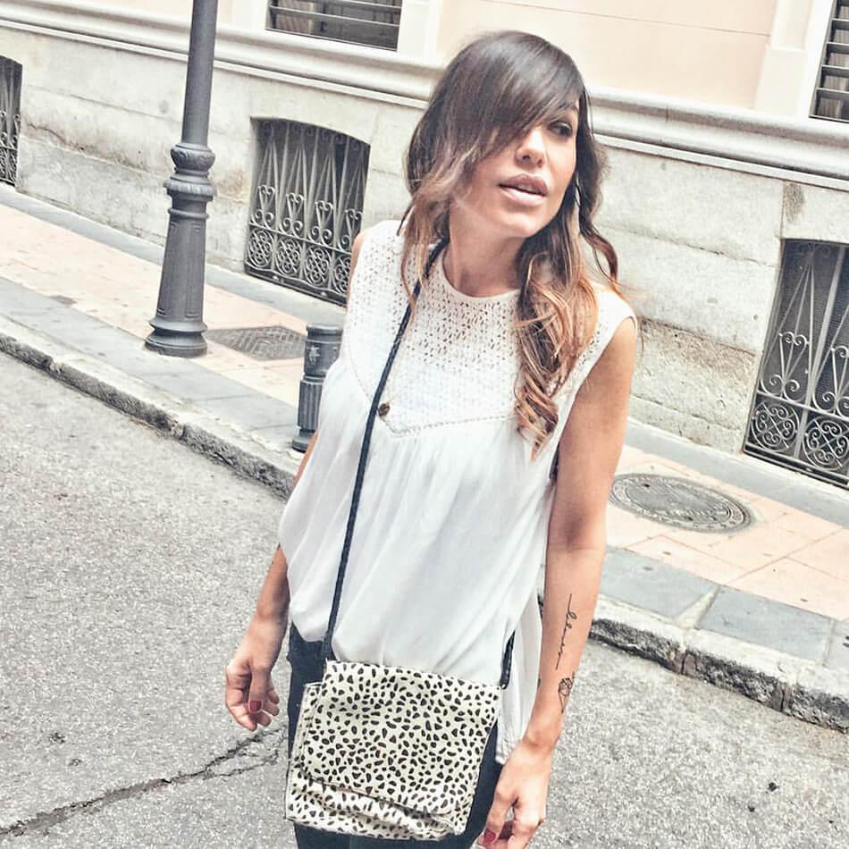 foto de street style de Bárbara Crespo con top de Kiabi