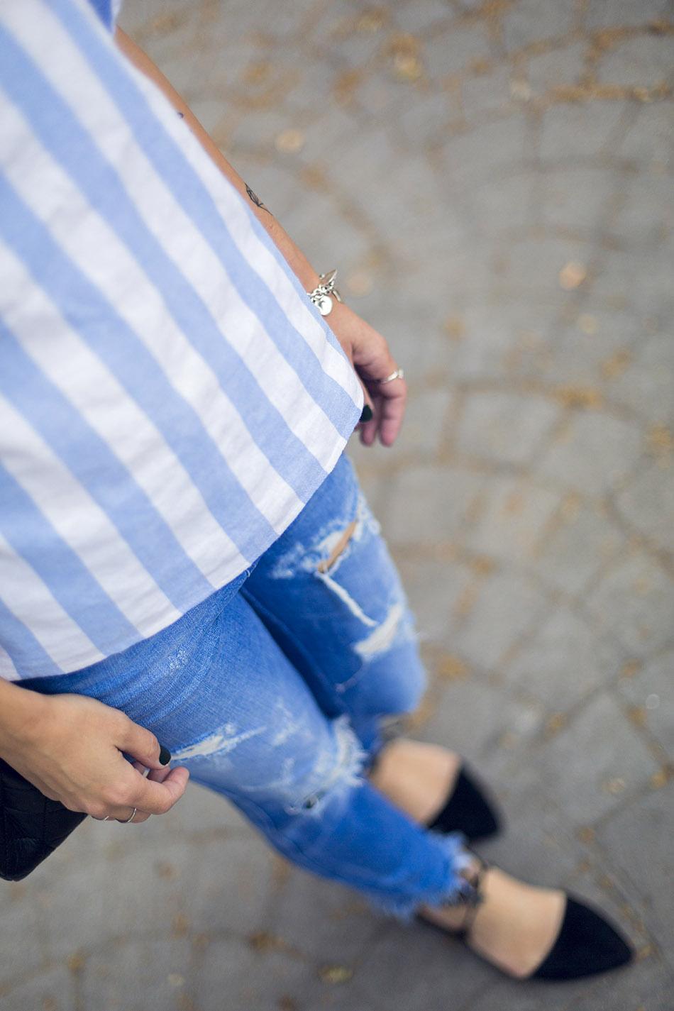 street style shein shirt zara jeans hakei sandals 02