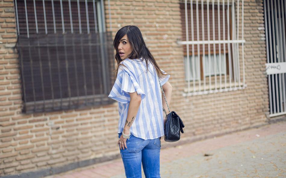 street style shein shirt zara jeans hakei sandals 05