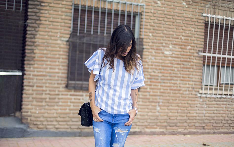 street style shein shirt zara jeans hakei sandals 08