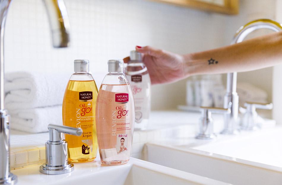 aceites hidratantes para después de la ducha OIL & GO! de natural honey