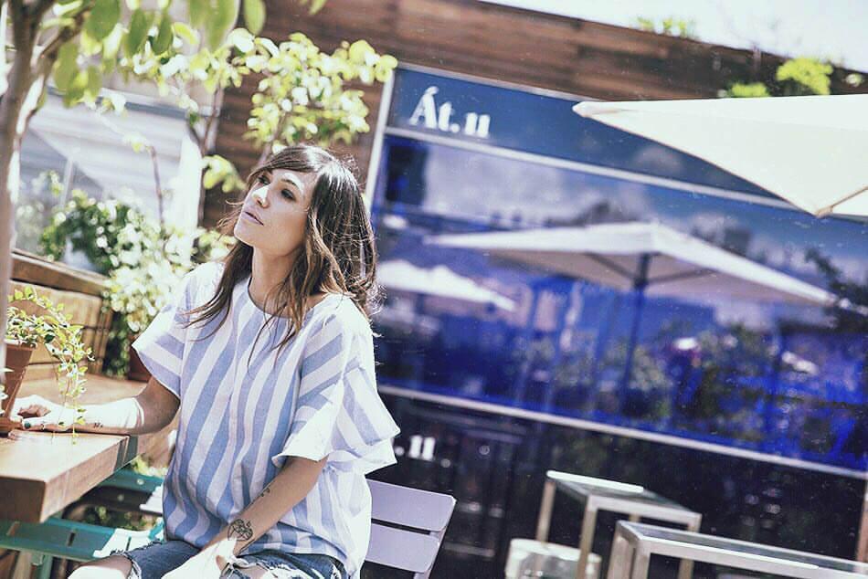 blusa de rayas de sheinside