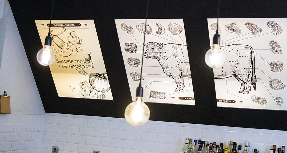 la vaca y la huerta. restaurante de Madrid