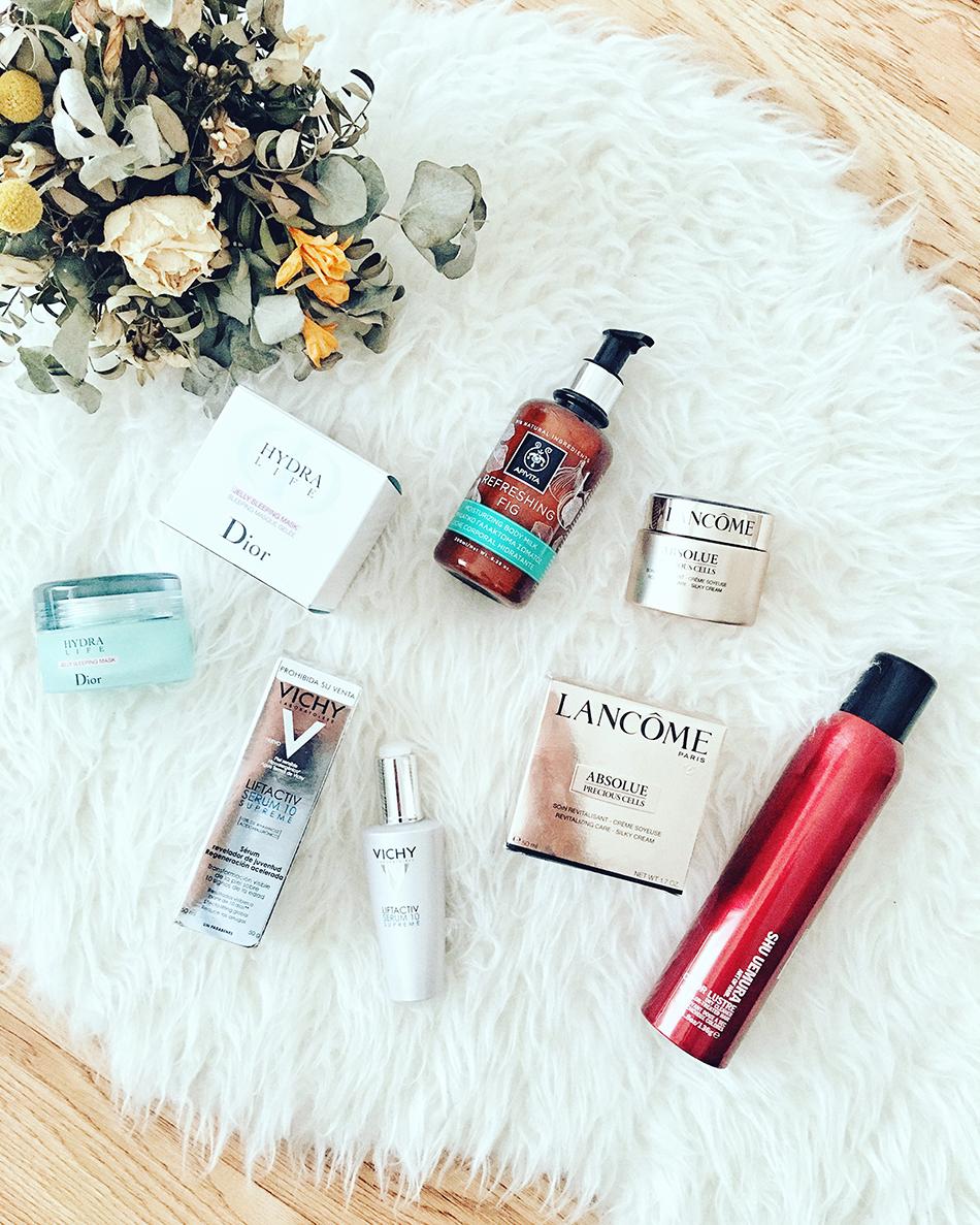 productos de belleza: dior, lancome, vichy, shu uemura