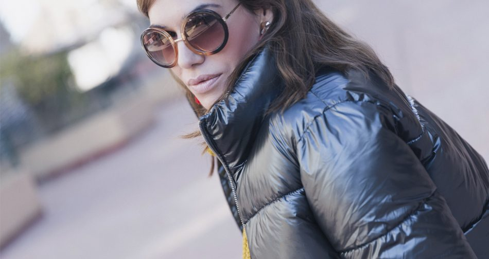 Bárbara Crespo street style. Puffy jacket/Plumas: Kiabi. Trendy outfit