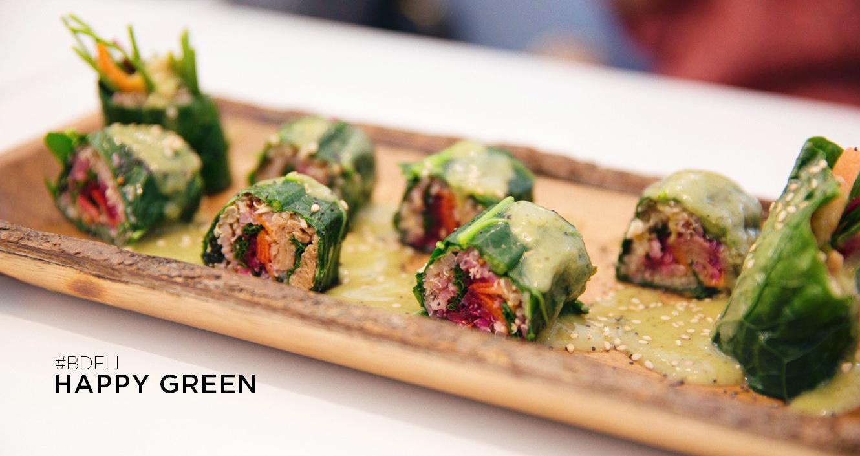 happy green / restaurante healthy de ensaladas y fit bowls / sushi veggie