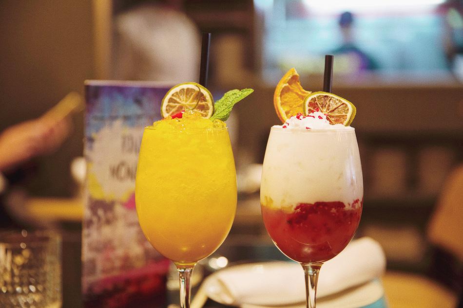 cócteles, restaurante de cocina fusión pink monkey