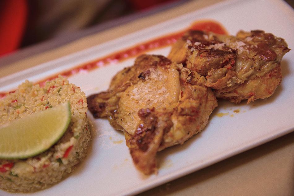 pollo com quinoa