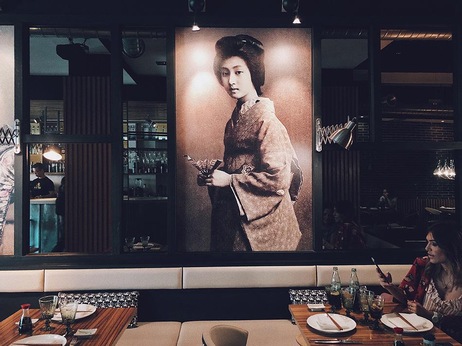decoración cuadros geishas