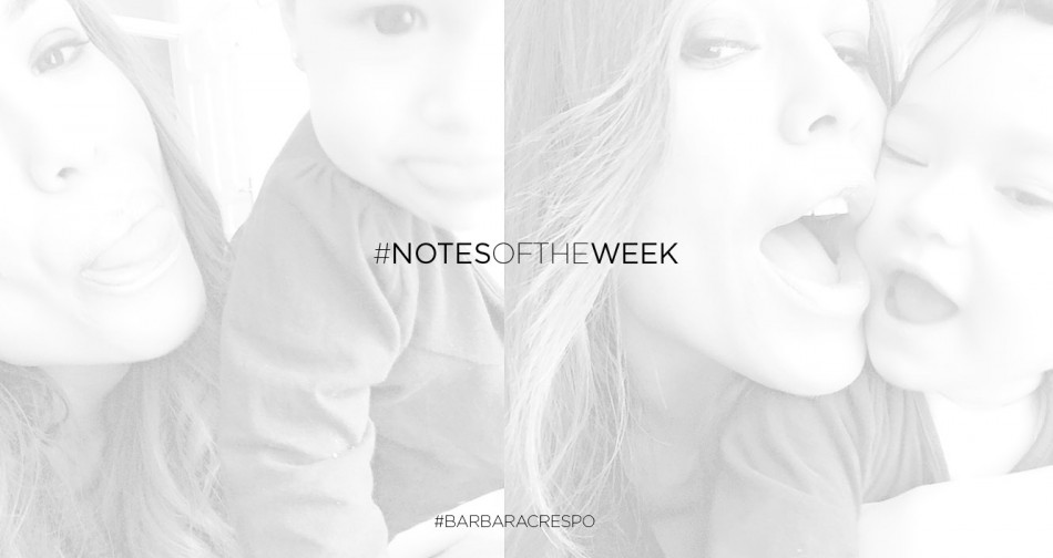 Notas de la semana. Instagram de Bárbara Crespo. Notes of the week
