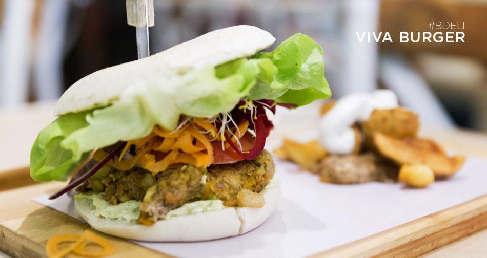 hamburguesa vegetariana Viva Burger