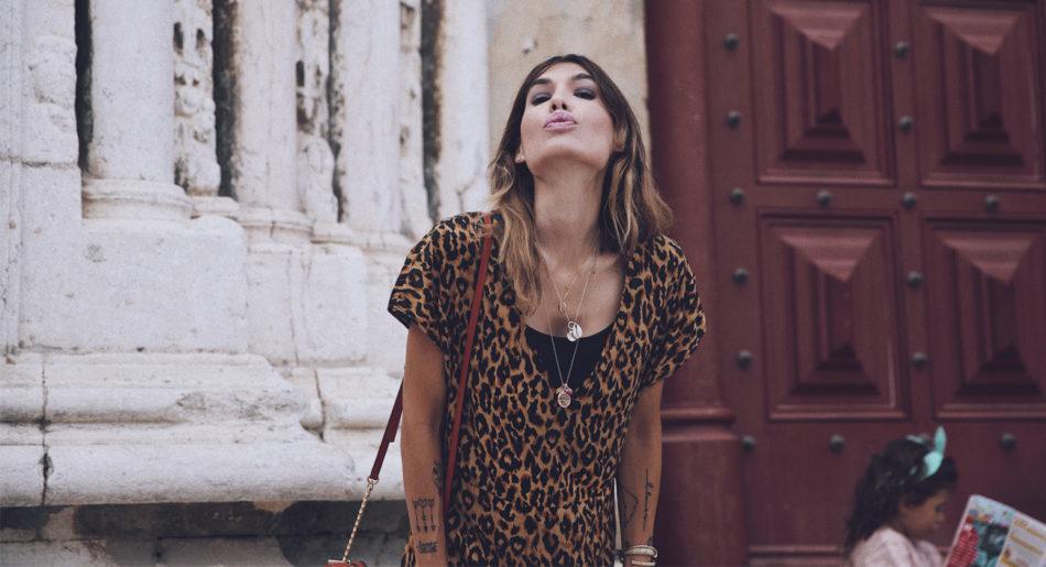 Lisbon streetstyle. Bárbara Crespo. Animal print dress. Boho style. Vestido de animal print. Vestidos largos