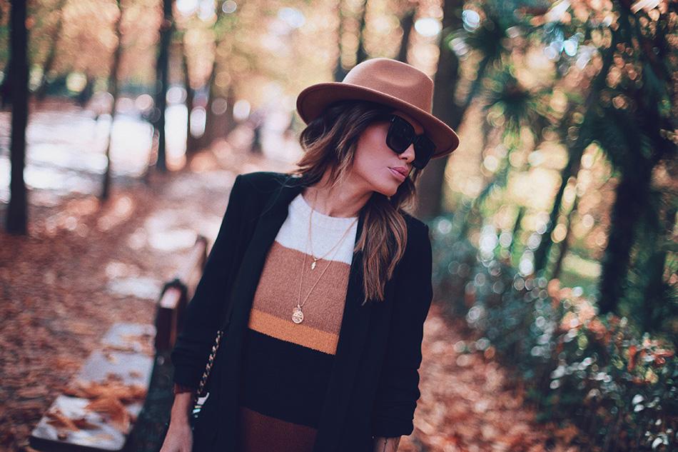 Bárbara Crespo streetstyle. Colorblock pullover. El Retiro